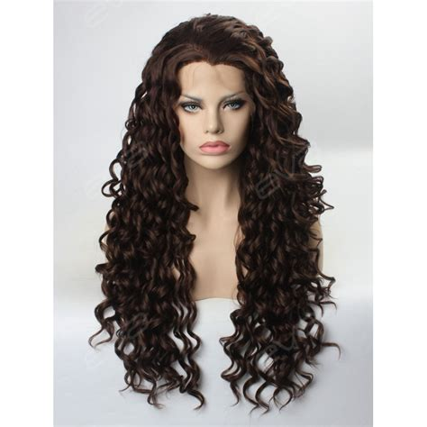 light brown curly wig brown curly synthetic lace front wig synthetic