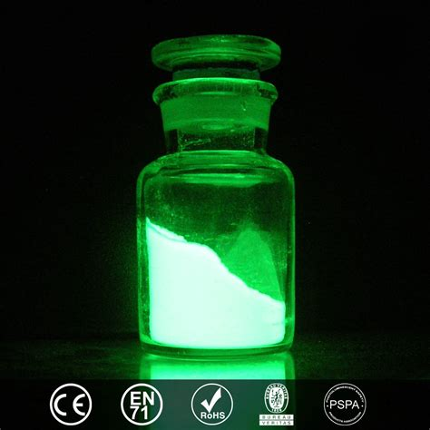 green glow in the pigment powder powder photoluminescent yellow green glow light pigment