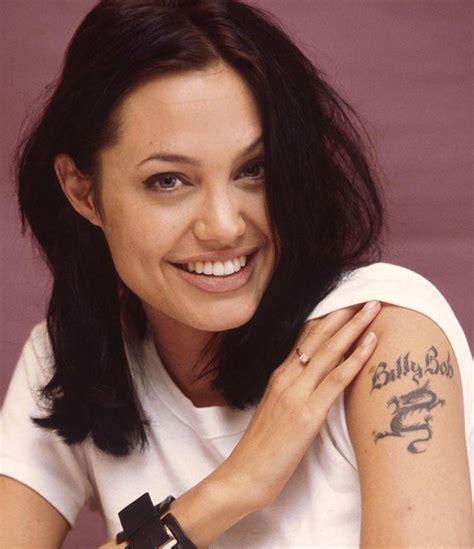 angelina jolie panther tattoo los peores tatuajes que llevan algunos famosos