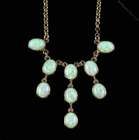 antiques atlas opal gold necklace necklace cascading opals