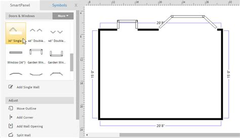 draw floorplans how to draw a floor plan with smartdraw