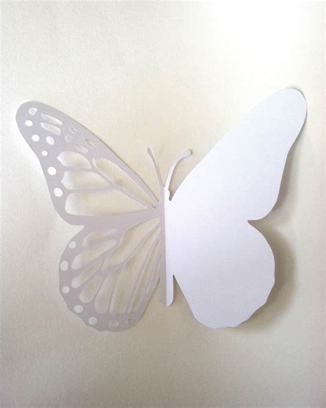 butterfly paper cut out template butterfly card printable paper cutting template paper