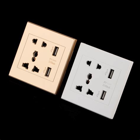 Wallplug Universal Uk Eu Us Port And 2 Usb Port With On Switch new universal ღ ღ usb usb wall socket ac 110 250v us uk ヾ ノ eu eu au wall socket 2 port