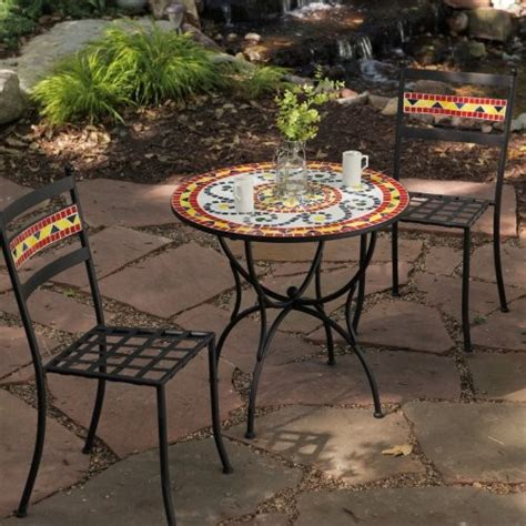 jardin mosaic bistro set contemporary patio furniture
