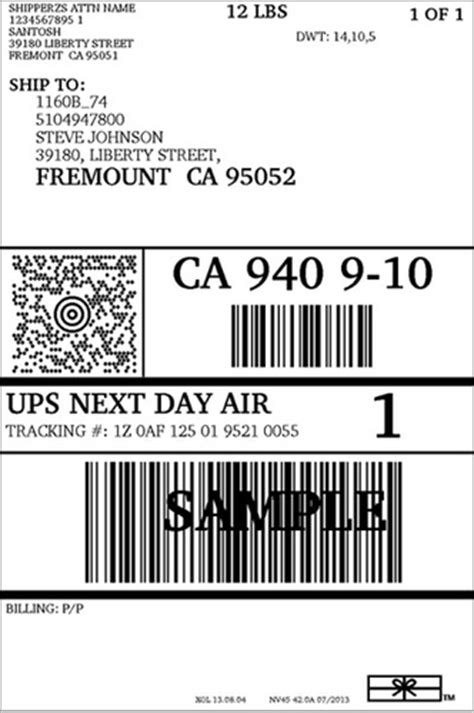Print Shipping Labels With Ups Shipgenie Manufacturer Service Provider In The Great Oasis Ups Label Template