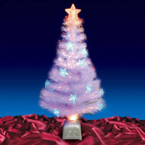 beautiful 4ft 120cm transparent fibre optic christmas tree