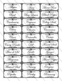 4 best images of spice and herb labels printable free