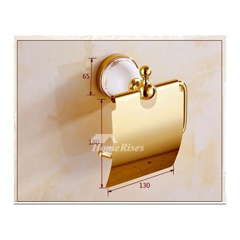 Brass Bathroom Accessories Set Polished Ceramic Brass Bathroom Accessories