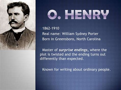 biography of o henry o henry quot the ransom of red chief quot