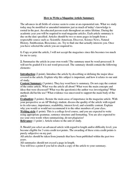 how to write an overview of a paper 28 images how to write a summary essay the best way to