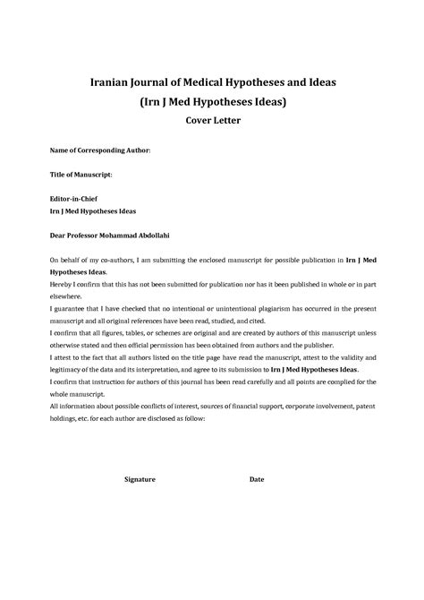 Cover Letter For A Paper by Cover Letter Journal Sle The Letter Sle