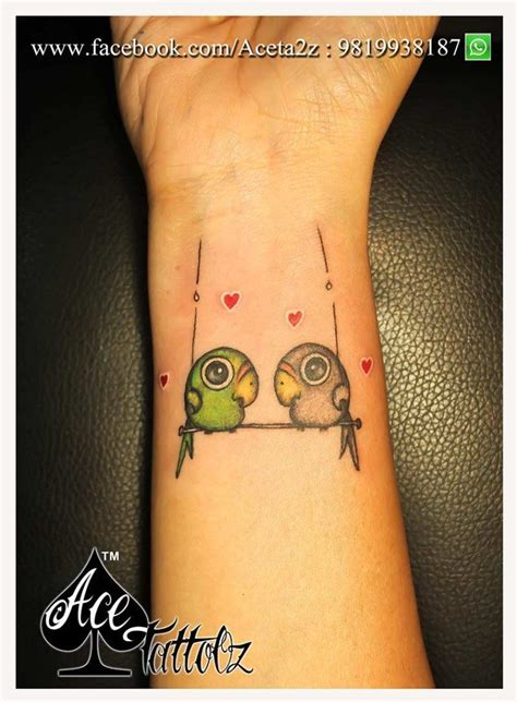 couple bird tattoos sparrow ace tattooz best studio in mumbai
