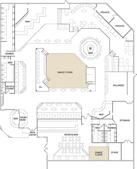 club floor plan image gallery nightclub layout