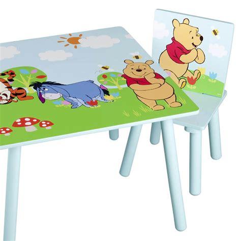 winnie pooh tisch und stuhl kindersitzgruppe kinder sitzgruppe tisch stuhl kindertisch