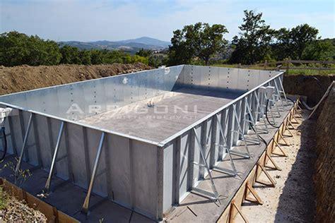 piscine per casa piscine per casa copertura alta angolare addossata per