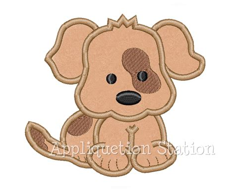 puppy patch baby puppy patch eye spot applique machine embroidery