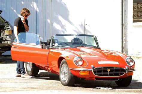 antique jaguar harry styles photos harry styles drives an antique