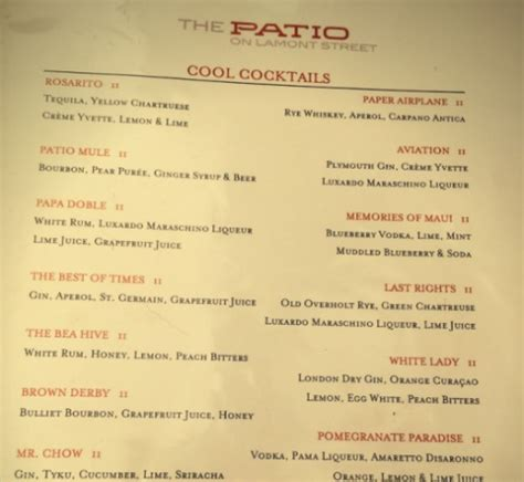 The Patio Menu by The Patio On Lamont Restaurant Review A Cup Of Kellen