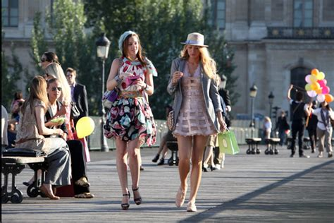 one day film locations paris leighton meester and blake lively film in paris zimbio