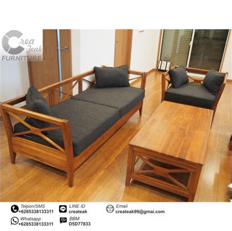 Daftar Kursi Tamu Jati set kursi tamu minimalis silang jati createak furniture createak furniture
