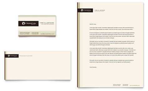 Financial Planner Business Card & Letterhead Template Design