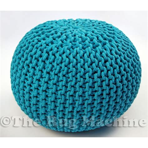 knitted gumball ottoman details about hand knitted aqua gumball ottoman pouffe