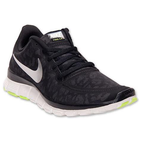 nike free 5 0 v4 womens running shoes black silver nike free 5 0 v4 leopard running