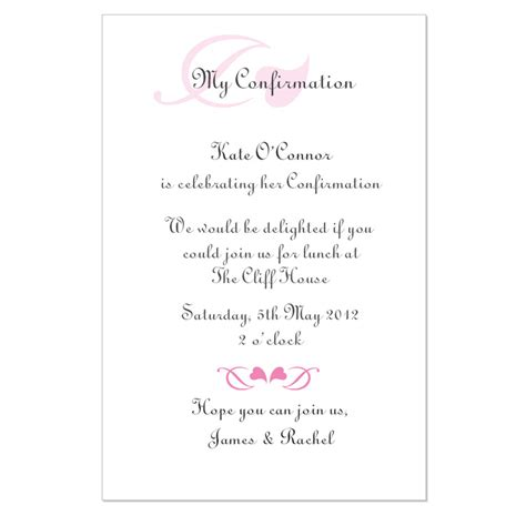 6 best images of free printable confirmation invitation