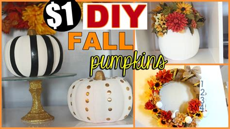 fall diy series chic dollar store pumpkins fall home