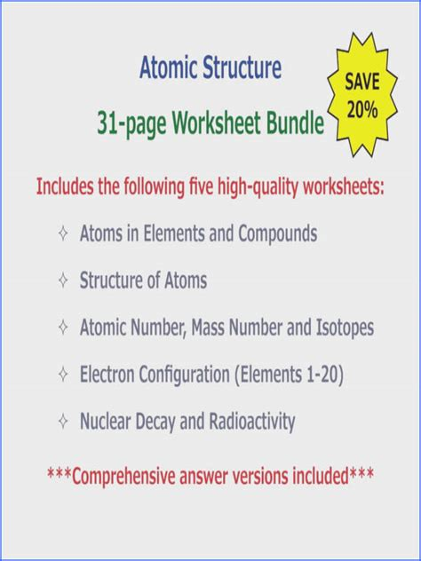 worksheet electrons in atoms mychaume