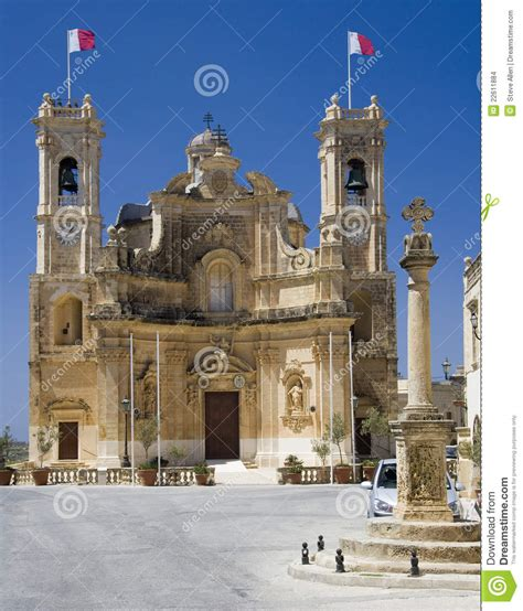 Architecture Business Cards malta gozo church in gharb stock images image 22611884