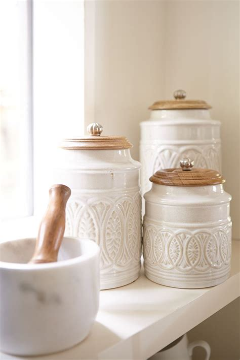 ceramic canisters for the kitchen ceramic kitchen canisters for the marin large white