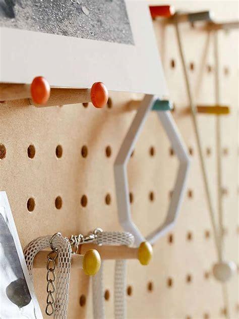 block design wooden peg board displays your favorite items