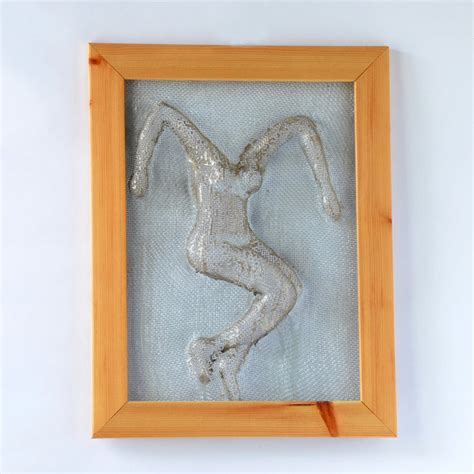 metal wall framed home decor wire mesh sculpture