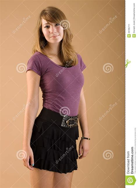 young girl skirt cute teen wearing skirt stock image image of seventeen