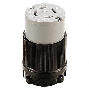 0332 Nema Top Black Grey power locking connector l15 30r 30a 250v 3 hp 29tk44 29tk44 grainger