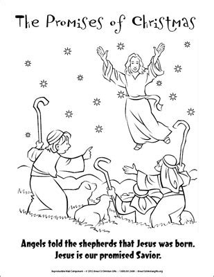 angels visit shepherds coloring page the promises of christmas coloring page angels and