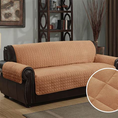 leather sofa cover leather sofa covers details reversible suede sherpa with