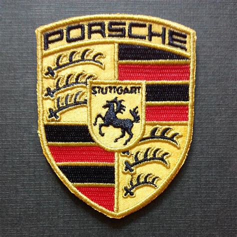 porsche racing logo iron on patch men s fashion on carousell