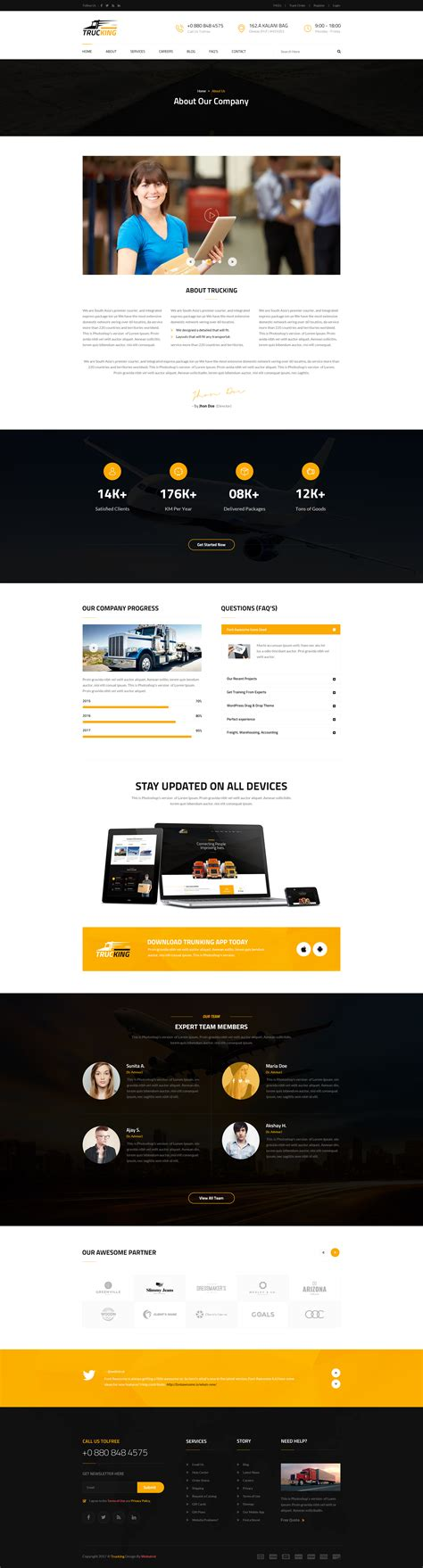 Express Logistics Transport Logistics Html Template 100 trucking transportation and logistics website
