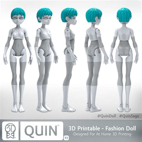 How To Make A 3d Doll Out Of Paper - quin the 3d printable doll 3dktoys