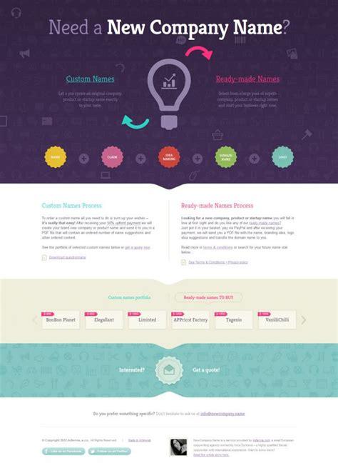web layout names newcompany company naming service webdesign
