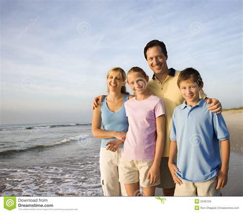 Smiling Family On Beach Stock Image Image Of Beach Horizontal 2046159 Genealogy Stock Photos Royalty Free