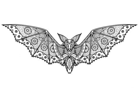 hand drawn bat background vector free download
