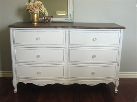 Dresser Painted by European Paint Finishes White Dresser Set