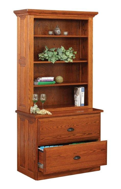 File Cabinet Hutch amish lateral two drawer file cabinet with hutch top