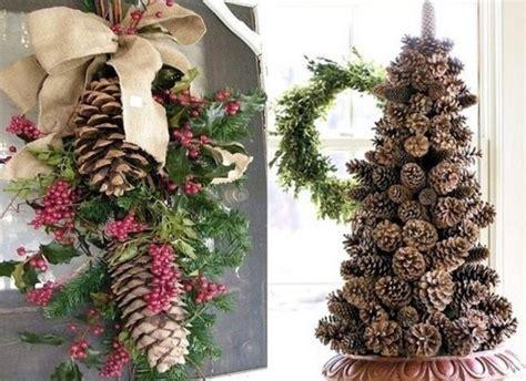 Decoration De Noel by Id 233 Es D 233 Corations De No 235 L En Pommes De Pin D 233 Co De Noel