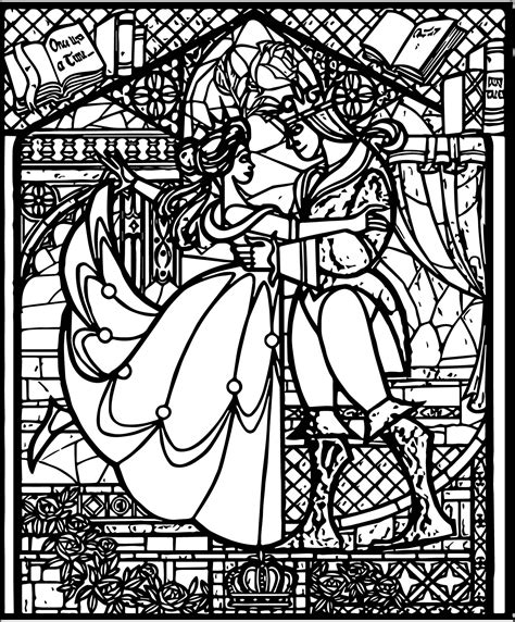 stained glass coloring book beast stained glass coloring pages wecoloringpage
