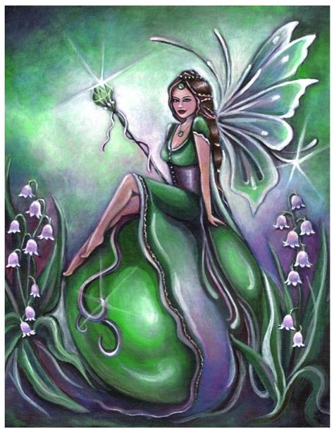 fairy magyk ecards jennifer galasso birthstone fairy  emerald