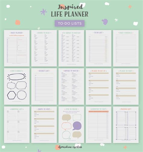 printable life planner 2018 the inspired life planner a pretty printable planner for